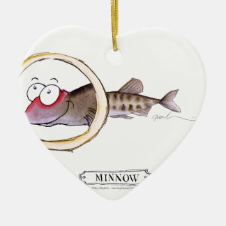 Minnow fish, tony fernandes ceramic heart decoration