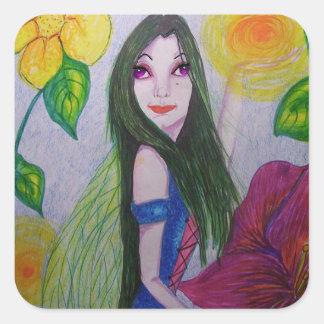 Minny the Fairy Square Stickers