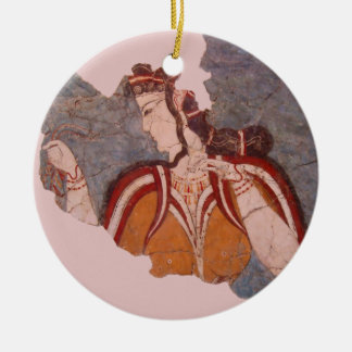 Minoan Wall Painting Christmas Ornament