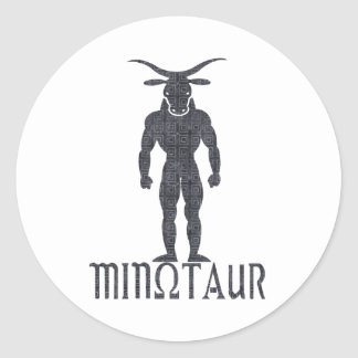 Minotaur Classic Round Sticker