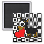 MinPin Has My Heart MinPin Has My Heart Square Magnet