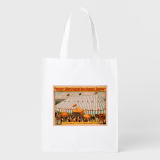 Minstrel's Exterior View of Huge Canvas Theatre Reusable Grocery Bag