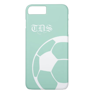 Mint Abstract Monogram Soccer iPhone 8 Plus/7 Plus Case