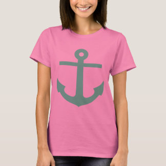 Mint Anchor Motif T-Shirt