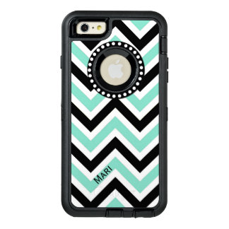 Mint and Black Chevron Otterbox iPhone 6 Plus Case