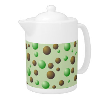 Mint and Chocolate Bubbles Pattern