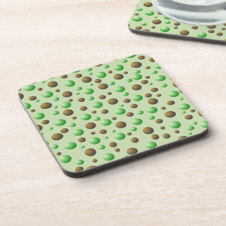 Mint and Chocolate Bubbles Pattern Drink Coasters