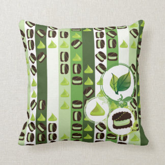 Mint and Chocolate Pillow Cushion