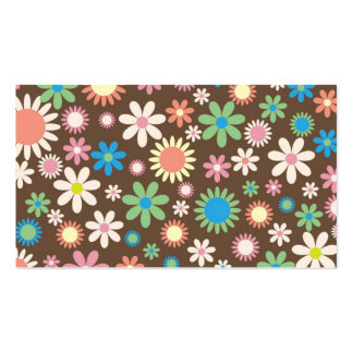 Mint and Pink Chocolate Flowers Business Card