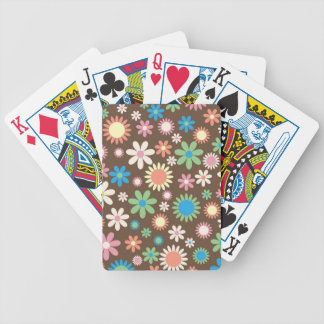 Mint and Pink Chocolate Flowers Deck Of Cards