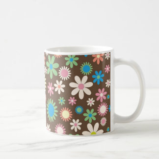 Mint and Pink Chocolate Flowers Mugs