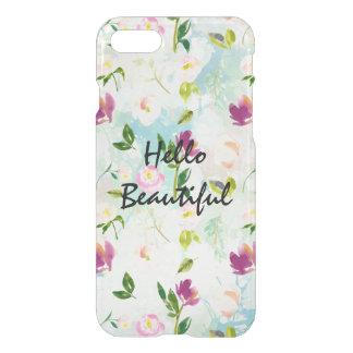 Mint Aqua Pretty Watercolor Floral iPhone 8/7 Case