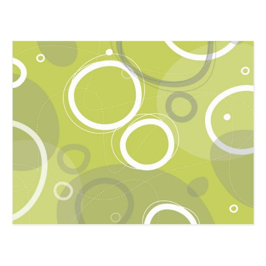 Mint Atomic Abstract Postcard