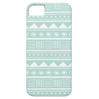 Mint Aztec Tribal Pattern iPhone 5 Cover