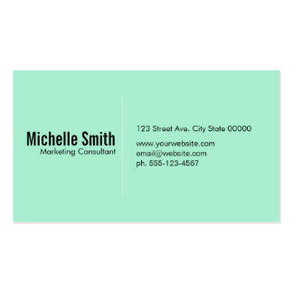 Mint background with Divider Line Pack Of Standard Business Cards