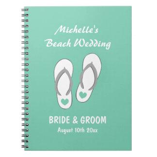 Mint beach theme wedding organizer planner book spiral note book