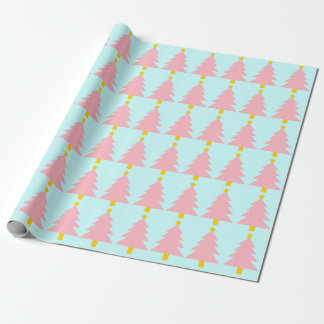 Mint Blue, Christmas Tree Wrapping Paper