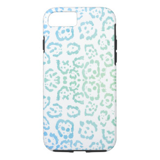 Mint Blue Leopard Pastel Kawaii Animal Print Green iPhone 8/7 Case