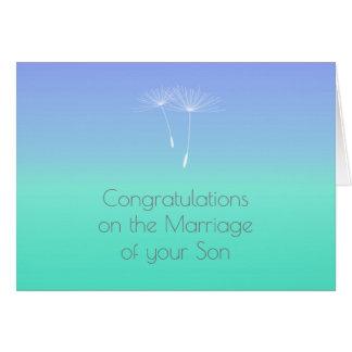 Mint Blue Ocean Parents of Bride Congratulations Card