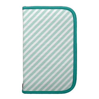 Mint Candy Stripe Folio Planner