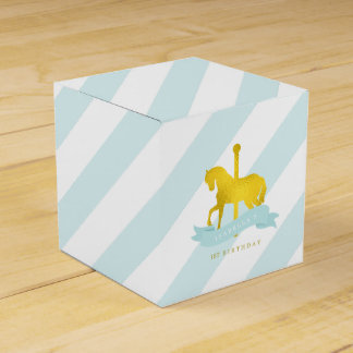 Mint Carousel Horse Birthday Party Favour Box