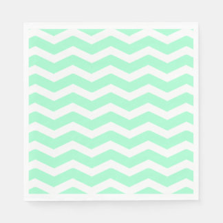 Mint Chevron Disposable Serviette