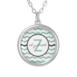 Mint Chevron Monogram Custom Jewelry