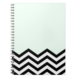 Mint Chevron Piece Notebook