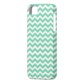 Mint Chevron Stripes iPhone 5 Case