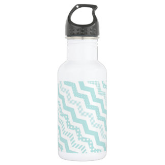 Mint Chevron with a twist 532 Ml Water Bottle
