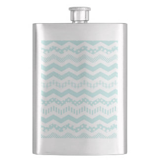 Mint Chevron with a twist Hip Flask