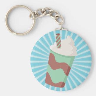Mint Choc Milkshake Key Ring