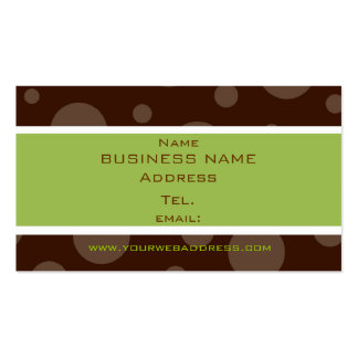 mint chocolate bubble profile cards business card template