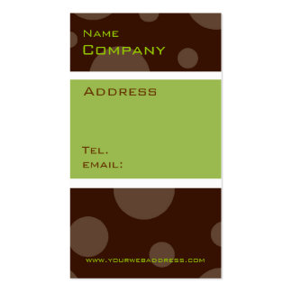 mint chocolate bubble, vertical profile cards business card