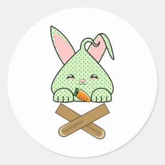 Mint Chocolate Chip Hopdrop Crossticks Sticker
