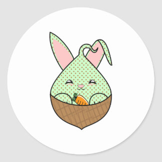 Mint Chocolate Chip Hopdrop Mini Waffle Cone Classic Round Sticker