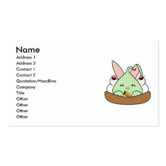 Mint Chocolate Chip Hopdrop Waffle Sundae Business Card Template