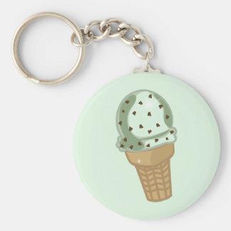 Mint Chocolate Chip Key Ring