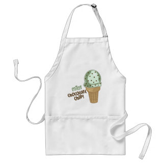Mint Chocolate Chip with text Adult Apron
