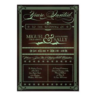 "Mint & Chocolate DIY Wedding Invitation 5"" X 7"" Invitation Card"