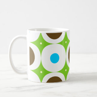 Mint & Chocolate dots cup Basic White Mug