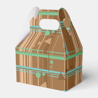 Mint Chocolate Geometry Wedding Favour Box
