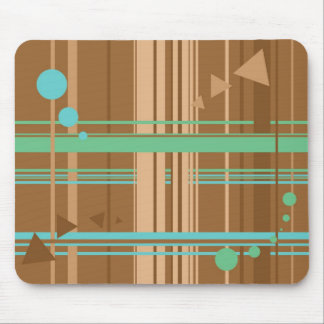 Mint Chocolate Geometry Mouse Pad