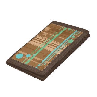 Mint Chocolate Geometry Tri-fold Wallets