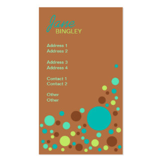 Mint Chocolate Retro Dots Pack Of Standard Business Cards
