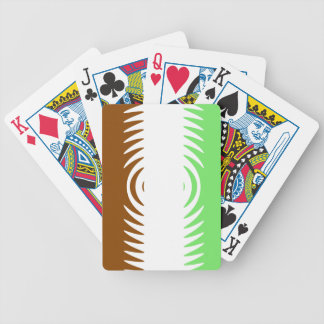 Mint Chocolate Vanilla Pattern Bicycle Poker Deck