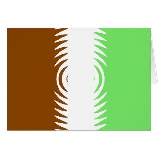 Mint Chocolate Vanilla Pattern Greeting Card