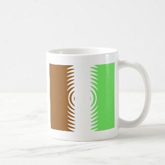 Mint Chocolate Vanilla Pattern Mugs