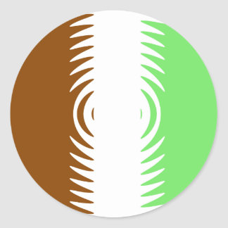 Mint Chocolate Vanilla Pattern Classic Round Sticker