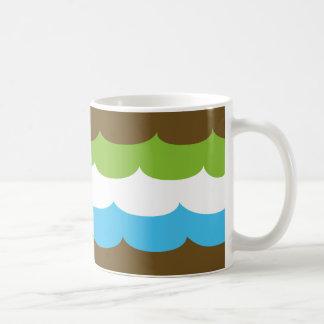 Mint & Chocolate waves cup Basic White Mug